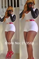 2014 New Free Shipping Hot Sale Sexy Celebrity Women Boutique Jumpsuit Ladies BodyCon Bandage Party Cocktail Dress dd54