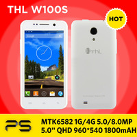 "Freeshipping 4.5"" THL W100S 1GB RAM 4GB ROM 960*540 5.0/8.0MP 1800mAh Android 4.2 Quad Core Dual SIM Smart Phone with 3G GPS BT"