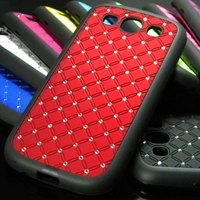Retail for samsung galaxy s3 i9300 case rhinestone+TPU case free shipping