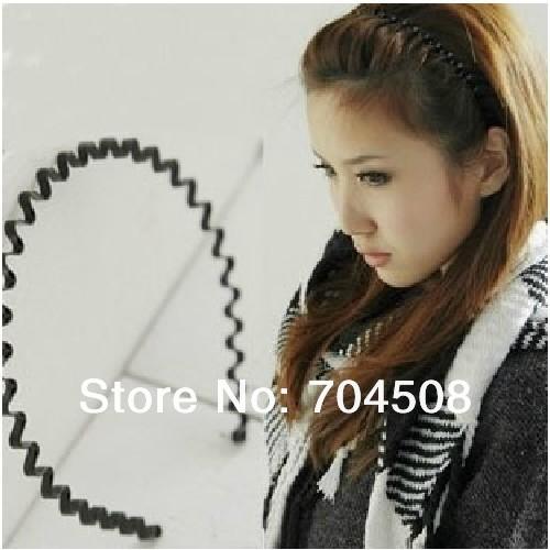 FD204 Hot New Black Metal Sports Hoop Wavy Headband Hairband for Men Women ~1PC~(China (Mainland))