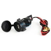 HOT SALE!! New 12V Waterproof Motorbike Motorcycle USB Charger Mobile Phone Car Charger Power Adapter Black 14745