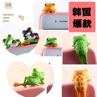wholesale-20pcs new 2014 kpop hot selling Tree frog mobile phone dust  plug
