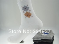 HOT SALE Diamond High Quality Cotton classic business brand man socks , men sock , 20pcs=10 pairs=1 lot sports cotton socks