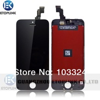 50pcs/lot NEW Black LCD Display & Touch Digitizer Screen Frame Assembly For iPhone 5C By DHL Free Shipping