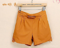 Women Japan Style Cute Casual Shorts Cotton Cozy Straight Shorts Belt as Gift S,M,L Wholesale And Retail CB0301A