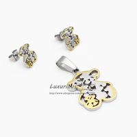 18K Gold Plating,stainless steel set,Fashion style, Earrings And pendant, Hot Selling Top quality (T0030)