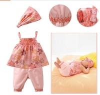 Summer Baby 3pcs Suit Headband + Shirt + Pants 0-3Year Toddler Girl Clothing Sets Small Babies Wear 80-90-100