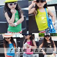 2722 2014 summer female child all-match vest