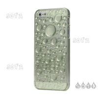Free Shipping For iPhone 5 3D Water Drop Plastic Cover Case Accessories - Green Wholesale