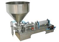 Pneumatic pasty food filling machine sticky liquid stuff filler stainless SS304,hot sauce bottling equipment,beverage packer
