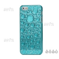 Free Shipping For iPhone 5 3D Water Drop Plastic Cover Case Accessories - Baby Blue Wholesale