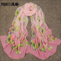 Gradient Color Faux Silk Women Scarf Female Butterfly Chiffon Silk Scarf