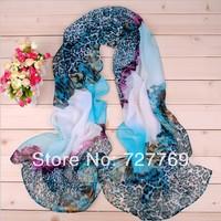 2014 newest LEOPARD print chiffon georgette scarf(10pcs/lot) w/5 colors Bufanda mayorista