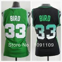 Boston 33 Larry Bird Womens Basketball Jerseys, Cheap Embroidery Basketball Jersey Larry Bird For Women, Wholesale