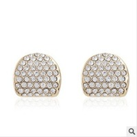 Free shipping 80564 Personality water crystal fashion gold silver earrings send friends wholesale top quality
