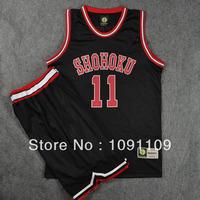 100% Terylene Fabric SlamDunk SHOHOKU #11 RUKAWA Basketball Uniform, Cheap Basketball Jersey Wholesale