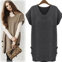 Spring Sweater Casual XXXL XXXXL Dress Knitting Big size Winter Fashion brief clothing Loose Beige Gray Jumpers free shipping