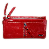 2014 The latest women leather wallet how long money for zip fastener hand bag fashion purse ,Free shipping!