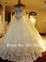 2014 New Hoting Bride wedding dress A-line custom size 2-4-6-8-10-12-14-16-18