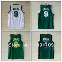 Boston 9 Rajon Rondo Basketball Jerseys, Cheap Brand New REV 30 Embroidery Logos Rajon Rondo Jersey, Wholesale