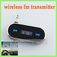wireless fm transmitter for iPhone 4S & all cell phones & mp3 with build-in battery handsfree car kit