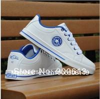 Men Fashion Leisure Skateboard Shoes Star Campus White+ blue Men Casual Sneaker Shoe Sports Flat