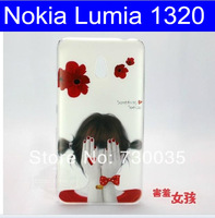 2PCS 10% off!! Hot Grils Print Hard Back Cover For Nokia Lumia 1320 Phone Cover Fits Fits Nokia 1320 With Free Screen Protector