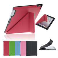 Hot Luxury Leather Stand Slim Smart Case Cover for  iPad 2 3 4 Freeshipping&Wholesale