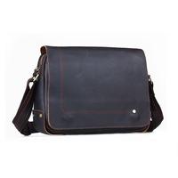 2014 New Handmade Vintage Casual Style Cowhide Genuine Leather Brand Shoulder Bag For Men Laptop Messenger Bag Briefcase Satchel