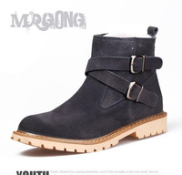Free shipping Men's boots winter snow boots warm shoes suede fashion boots male boots the trend of casual snow boots