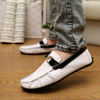 Spring and autumn male gommini loafers genuine leather shoes british style fashion shoes casual male shoes leather shoes lazy