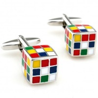 Magic Cube Cufflink 3 Pairs Wholesale Free Shipping Promotion