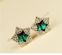star keep color jewelry fashion girl alloy plated women stud Earrings free shipping A10228