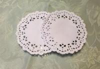 "SS016022 3.5"" Vintage napkin Hollowed Lace Paper mat Doilies Crafts DIY Scrapbooking/Card Making/Wedding Decoration(250pcs/bag)"