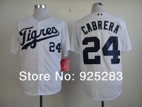 Free Shipping Wholesale 2014 Men's Baseball Jerseys Cheap Detroit Tigers #24 Miguel Cabrera Cool Base Jersey,Embroidery Logos