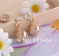 In 2014 the new style Gold plated round ball earring/earrings