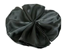 Free Shipping wholesale(100pcs/lot)polyester Black satin napkin for wedding decoration SIZE45cm*45cm(China (Mainland))