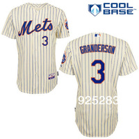 Free Shipping Wholesale 2014 Men's Baseball Jerseys Cheap New York Mets #3 Curtis Granderson Cool Base Jersey,Embroidery Logos