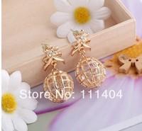 In 2014 the new style fashion JEWELRY earrings planet zircon rhinestone earring/earrings