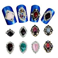 New Glitter Rhinestone Alloy Nail Art ,Mix 30pcs/lot Flowers Hollow Nail Jewelry Accessories,Charm 3d DIY Nail Decoration Tools