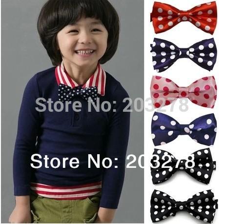 новые модные детские bowtie горошек мальчикам