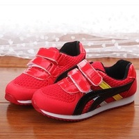Spring boy and girl single shoes child velcro gauze slip-resistant child sport shoes casual shoes size 27-37