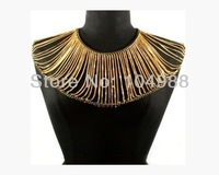 FREE SHIPPING 2014 STYLE B183 WOMEN FASHION GOLD ALLOY METAL CHAIN MULTI-LAYERS COLLAR BODY CHAIN JEWELRY