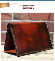 Simple high quality full grain leather men purse Yuangu brand