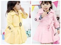 Free Shipping New 2013 Fashion Kids Children's Girl Princess long coat/girl jacket/kids dress coat