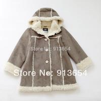 new 2014 kids jackets & coatsbaby clothing fake fur children outerwear fashion girls berber fleece wadded jacket boy coat
