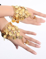 Belly dance indian dance accessories metal ring bracelet hand accessories a pair of