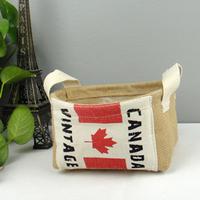 Hot !New Linen  waterproof storage basket /folding  basket !Free Shipment  10pcs/lot