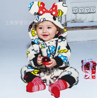Mickey and Minnie baby winter bodysuit climbing clothing baby jumpsuit infant ropa bebe