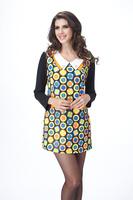 Plus size slim fancy women's  mm ol elegant one-piece dress